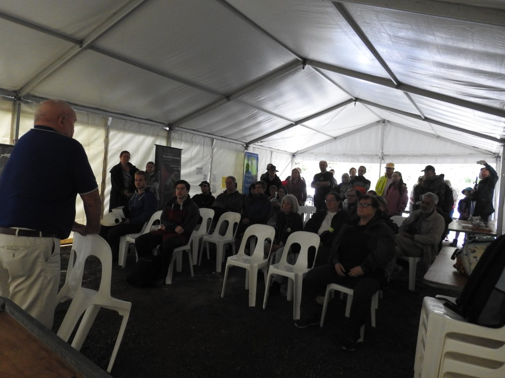 Frank Manthey opening the Bioblitz